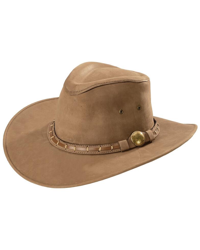 Bullhide Men's Timber Mountain Top Grain Leather Hat, Brown, hi-res