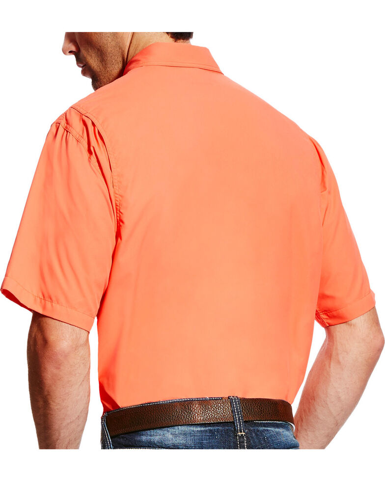 Ariat Men's Coral Solid VentTEK II Long Sleeve Western Shirt , Coral, hi-res