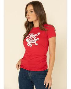 Ranch Dress'n Women's Hay Girl Graphic Tee , Red, hi-res