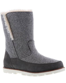 Lamo Footwear Women's Charcoal Brighton Boots - Moc Toe, Charcoal, hi-res