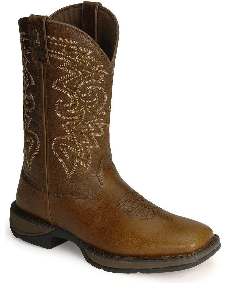 Durango Rebel Men's Pull-On Western Boots - Square Toe, Chocolate, hi-res