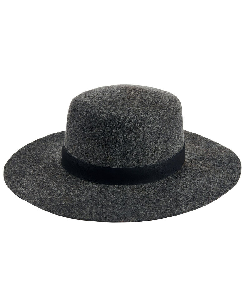 San Diego Hat Company Women's Grey Wide Wool Felt Boater Hat , Grey, hi-res