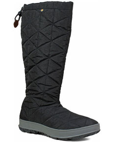 Bogs Women's Snowday Waterproof Winter Boots - Round Toe, Black, hi-res