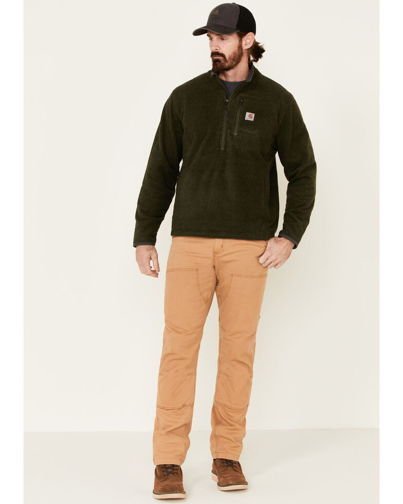 Carhartt Men's Dalton Half-Zip Fleece Pullover , Blue, hi-res