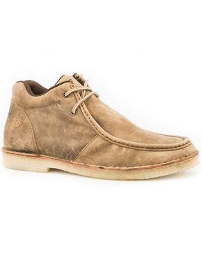 Roper Men's Arnold Slip-On Shoes - Moc Toe, Tan, hi-res