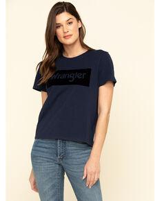 Wrangler Modern Women's Navy Logo Tee, Navy, hi-res