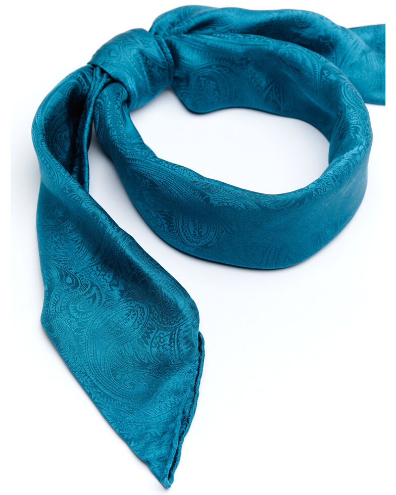 Cody James Men's Silk Jaquard Turquoise Scarf, Turquoise, hi-res