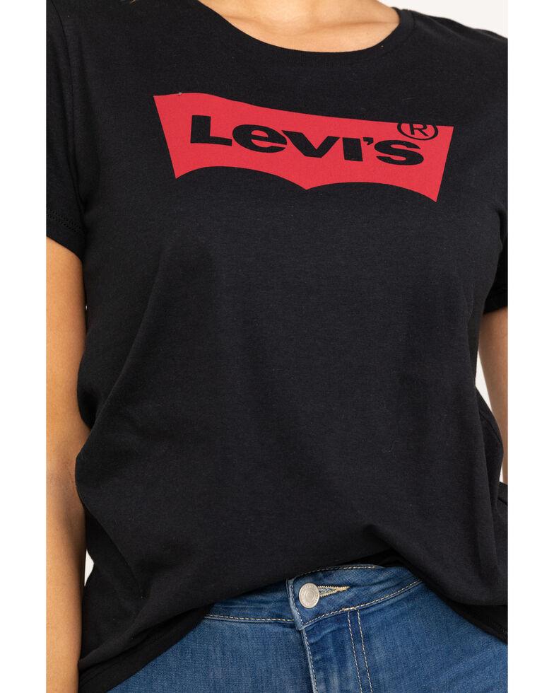 Levi's Women's Black The Perfect Tee, Black, hi-res