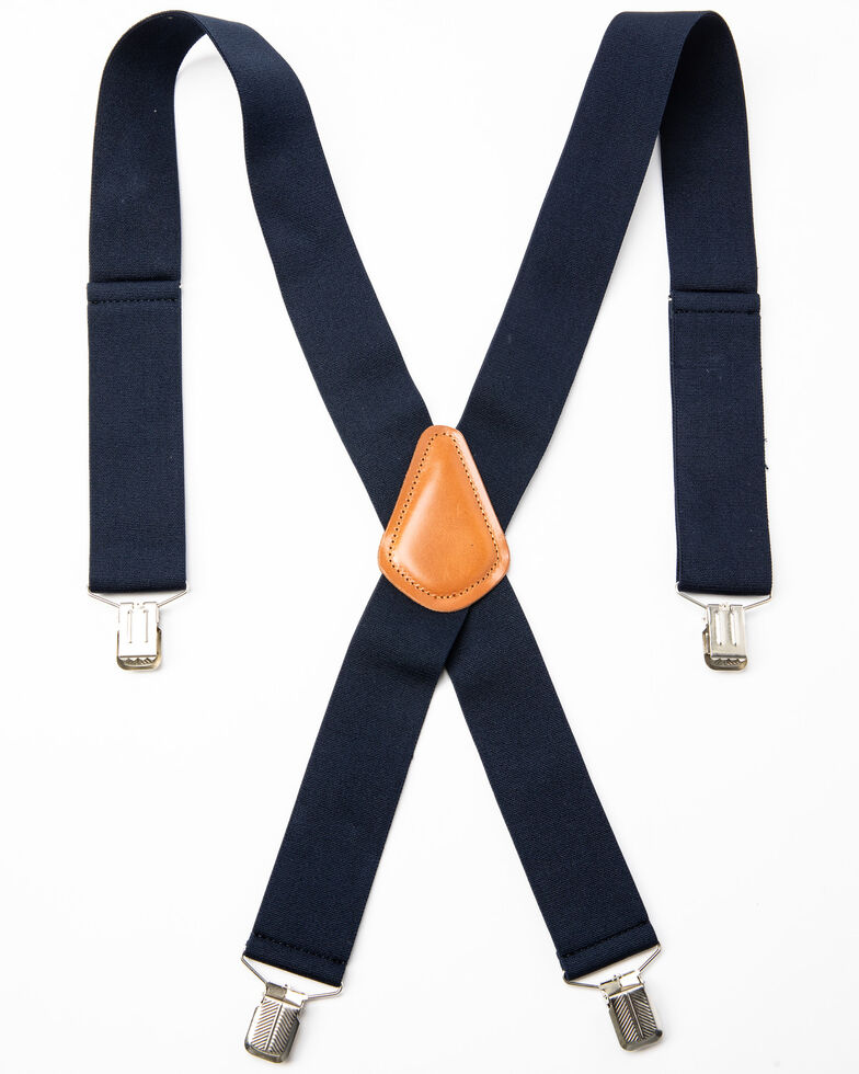 Hawx Men's Navy Work Suspenders, Navy, hi-res