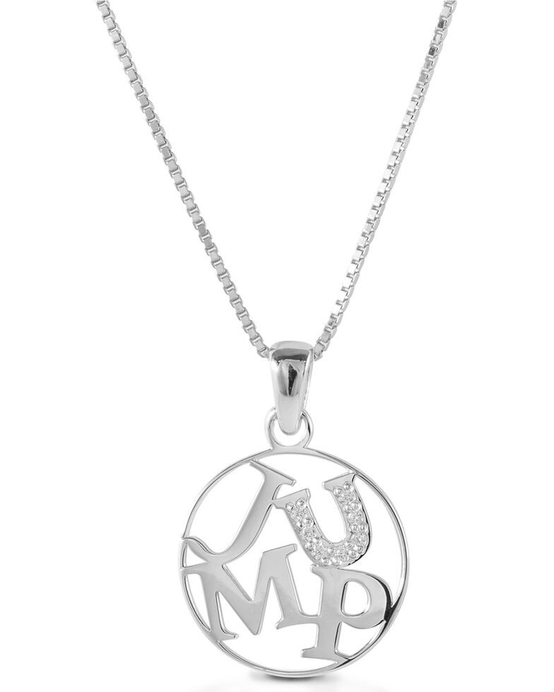 Kelly Herd Women's Jump Pendant Necklace , Silver, hi-res