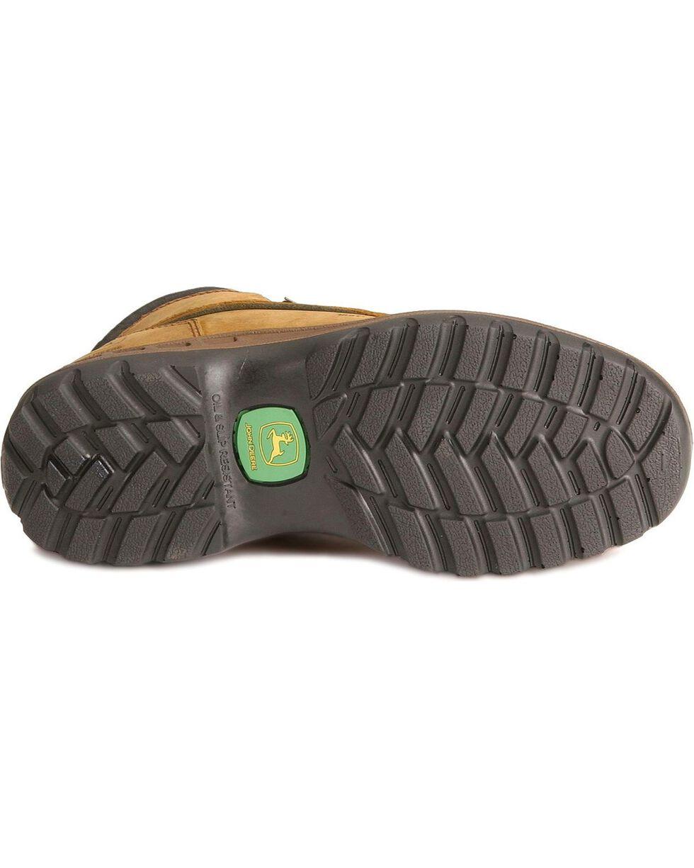 "John Deere 6"" WCT Waterproof Work Hiker Boots, Tan, hi-res"