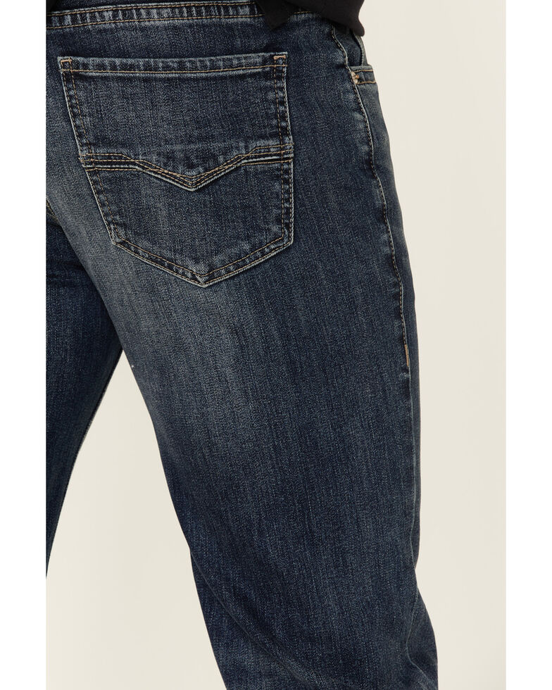 Rock & Roll Denim Men's Vintage 46 Dark Double Barrel Stretch Relaxed Straight Jeans , Blue, hi-res