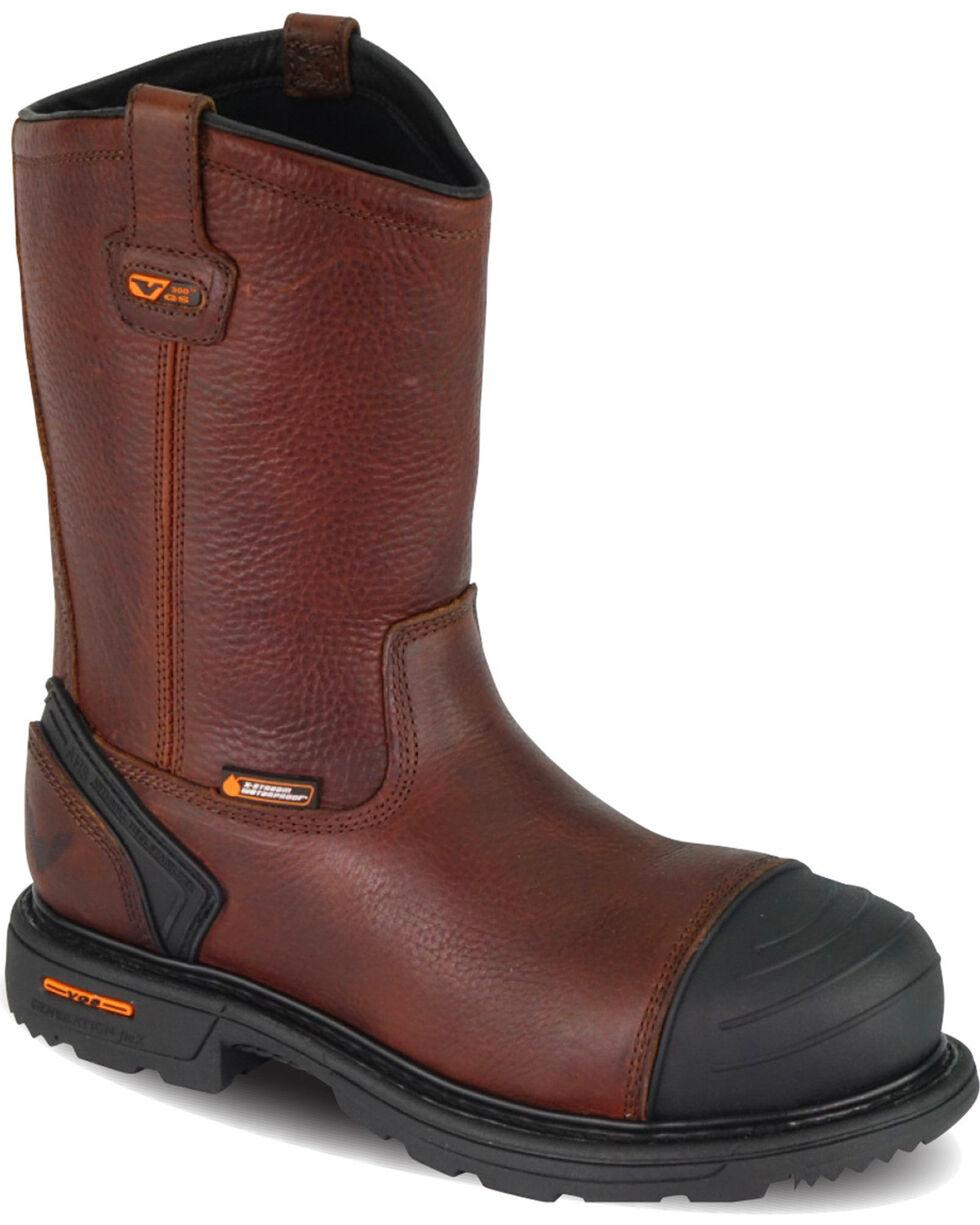 """Thorogood Men's 10"""" Waterproof Wellington Work Boots - Composite Toe, Brown, hi-res"""