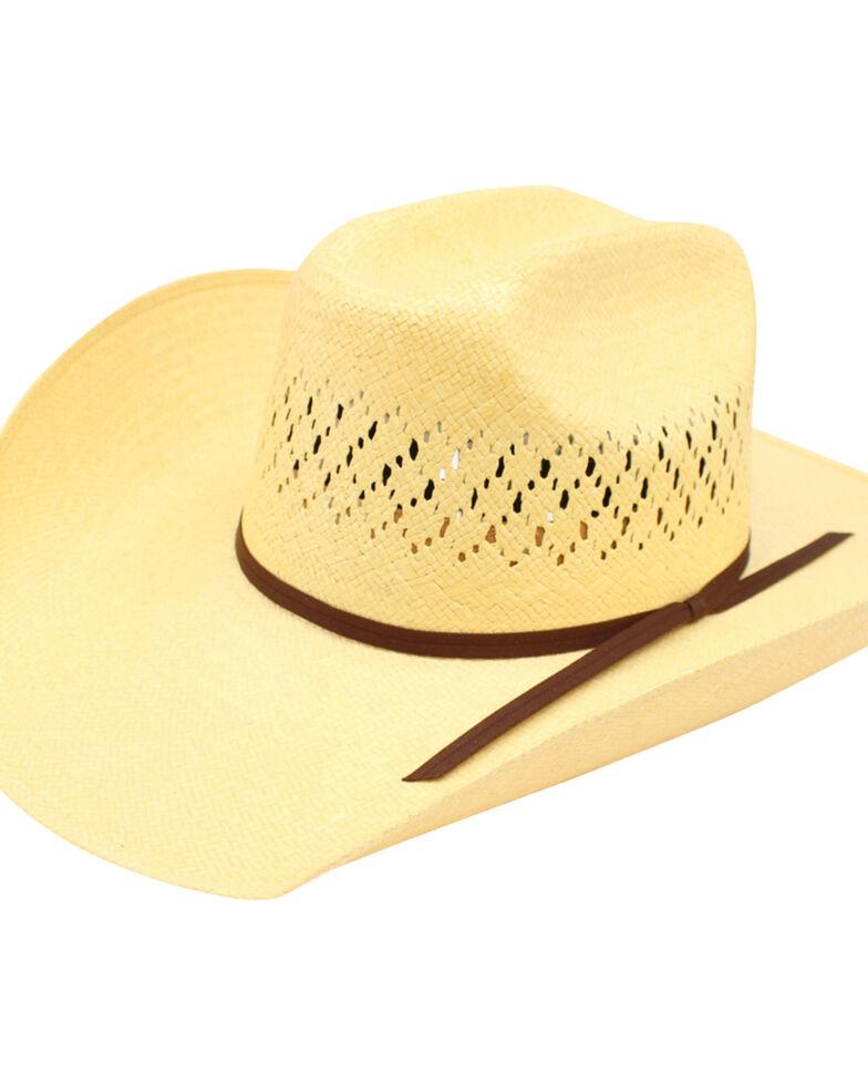 Ariat Men's 10X Maverick Double S Straw Hat, Natural, hi-res