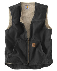 Carhartt Rugged Work Vest - Big & Tall, Black, hi-res