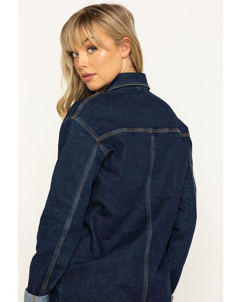 Wrangler Women's Caleb Barn Jacket, Blue, hi-res