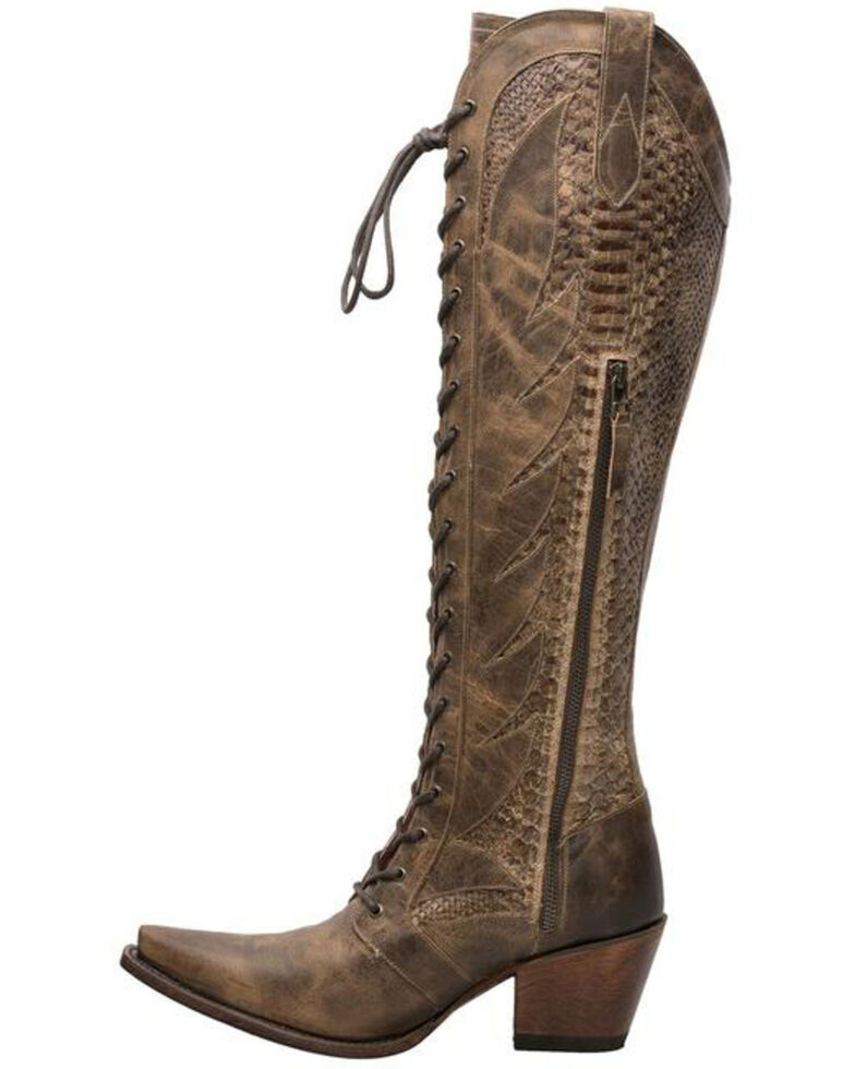 Lane Women's Trail Boss Western Boots - Snip Toe, Brown, hi-res