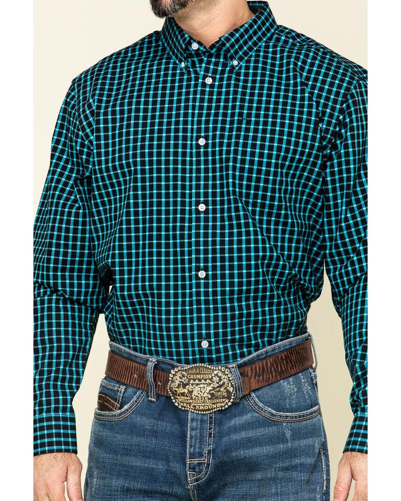 Cody James Core Men's Outlaw Territory Check Plaid Long Sleeve Western Shirt , Black, hi-res