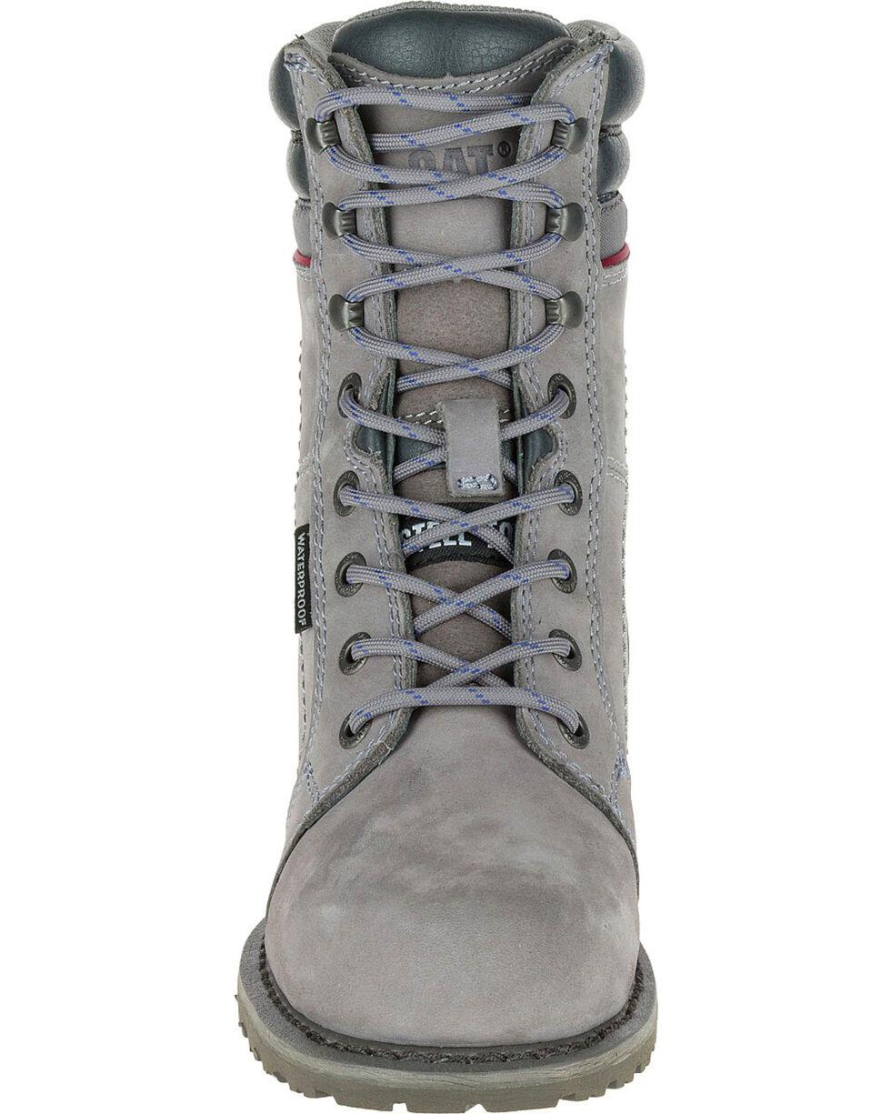 Caterpillar Women's Grey Echo Waterproof Work Boots - Steel Toe, Grey, hi-res
