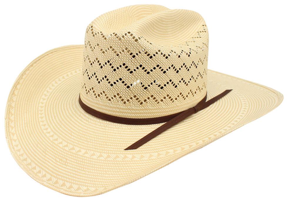 Ariat 20X Double S Straw Cowboy Hat , Natural, hi-res