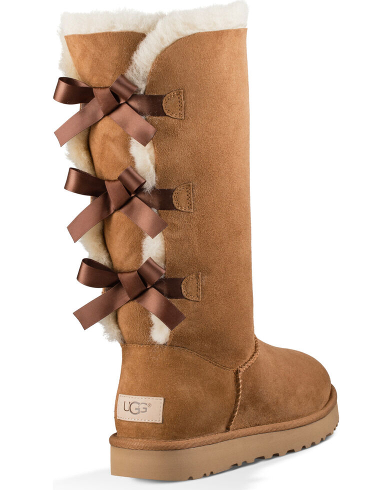 b1c5757c20d UGG Women's Chestnut Bailey Bow Tall II Boots - Round Toe