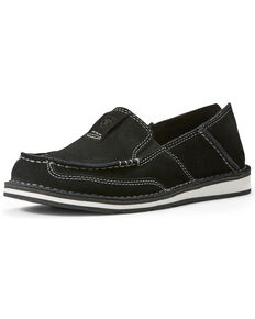 Ariat Women's Suede Cruiser Slip-On Shoes - Moc Toe, Black, hi-res