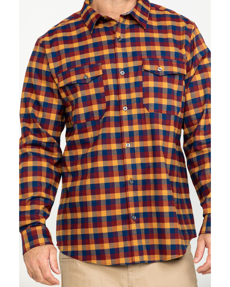 Hawx Men's Multi Fashion Stretch Plaid Flannel Long Sleeve Work Shirt , Multi, hi-res