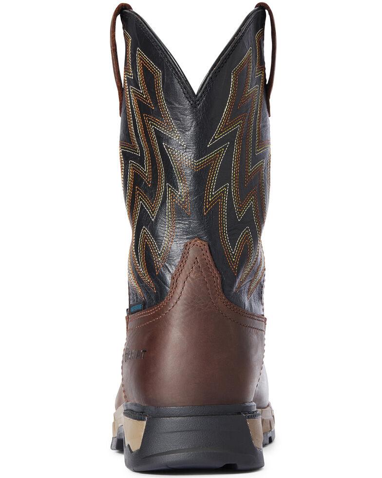 Ariat Men's Rebar Flex Waterproof Western Work Boots - Composite Toe, Brown, hi-res