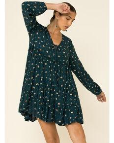 Peach Love Women's Teal Dot Dress, Teal, hi-res