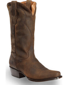 El Dorado Men's Handmade Tan Oiled Roper Boots - Fashion Square Toe, Tan, hi-res