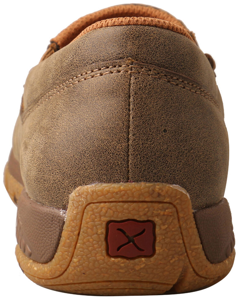 Twisted X Women's Slip-On Driving Shoes - Moc Toe, Brown, hi-res
