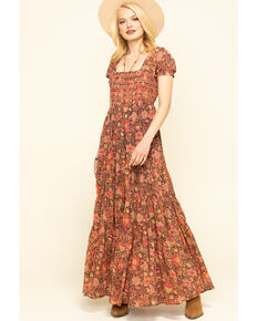 Free People Women's Getaway Maxi Dress, Black, hi-res