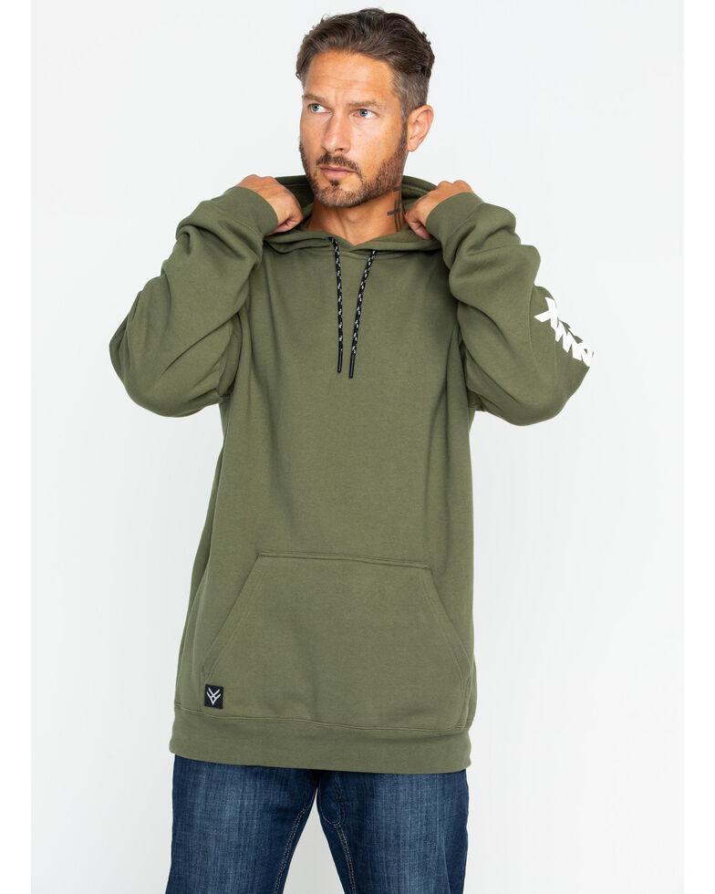 5c894839 Zoomed Image Hawx® Men's Logo Sleeve Work Hoodie , Dark Green, hi-res
