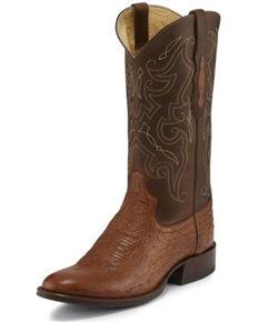 Tony Lama Men's Patron Saddle Western Boots - Round Toe, Cognac, hi-res