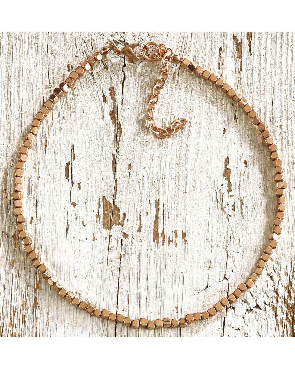 Jewelry Junkie Women's Gold Beaded Choker, Gold, hi-res