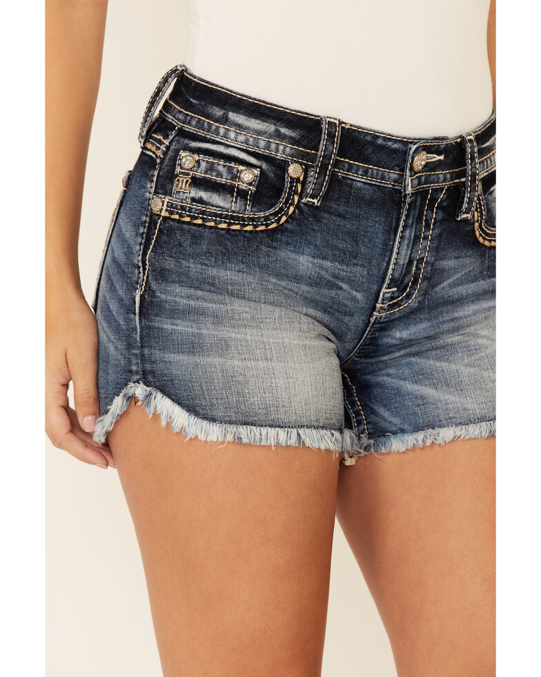 Miss Me Women's Lucky Day Shorts, Blue, hi-res