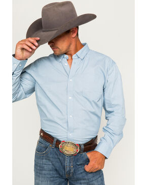 Cody James Men's Button Down Long Sleeve Shirt , Blue, hi-res