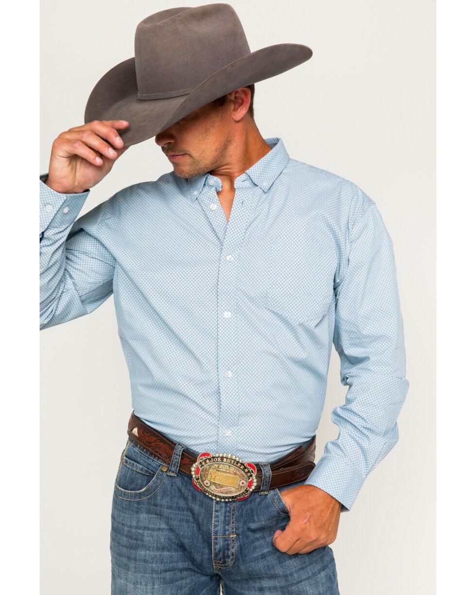 Cody James Men's Button Down Long Sleeve Shirt , Blue, hi-res
