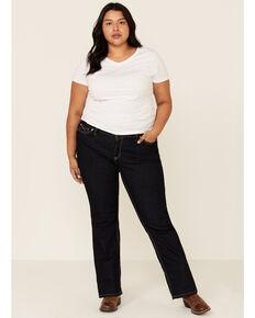 Ariat Women's R.E.A.L. Elise Rinse Bootcut Jeans - Plus, Blue, hi-res