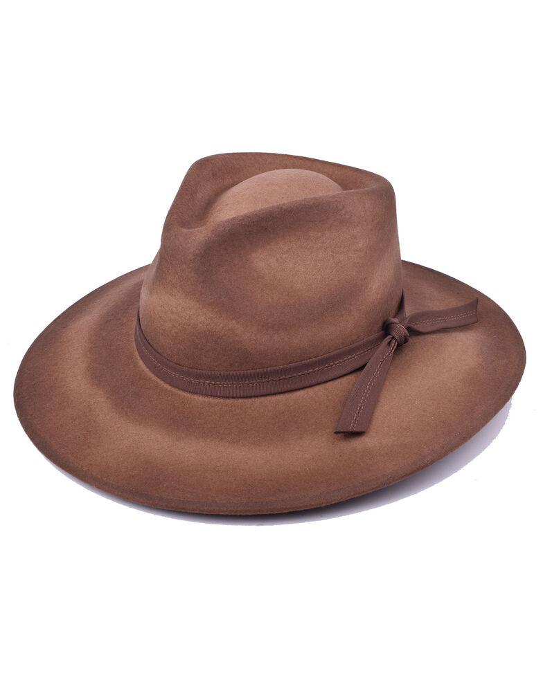 Ale By Alessandra Women's Brown Peyton Wool Felt Hat , Brown, hi-res