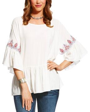 Ariat Women's White Aria Top , White, hi-res