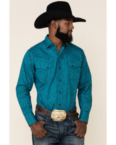Ely Walker Men's Assorted Paisley Print Long Sleeve Western Shirt , Multi, hi-res