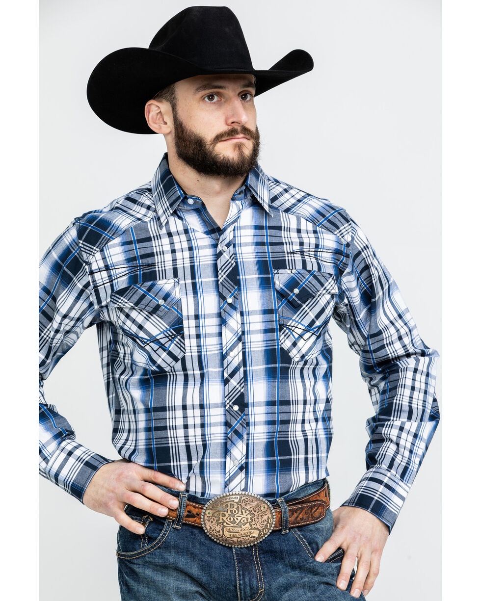 Ely Cattleman Men's Assorted Multi 1878 Plaid Long Sleeve Western Shirt , Multi, hi-res