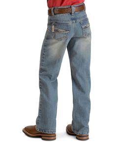 Cinch Boys' Tanner Slim Cut Jeans - 8-18 , Denim, hi-res