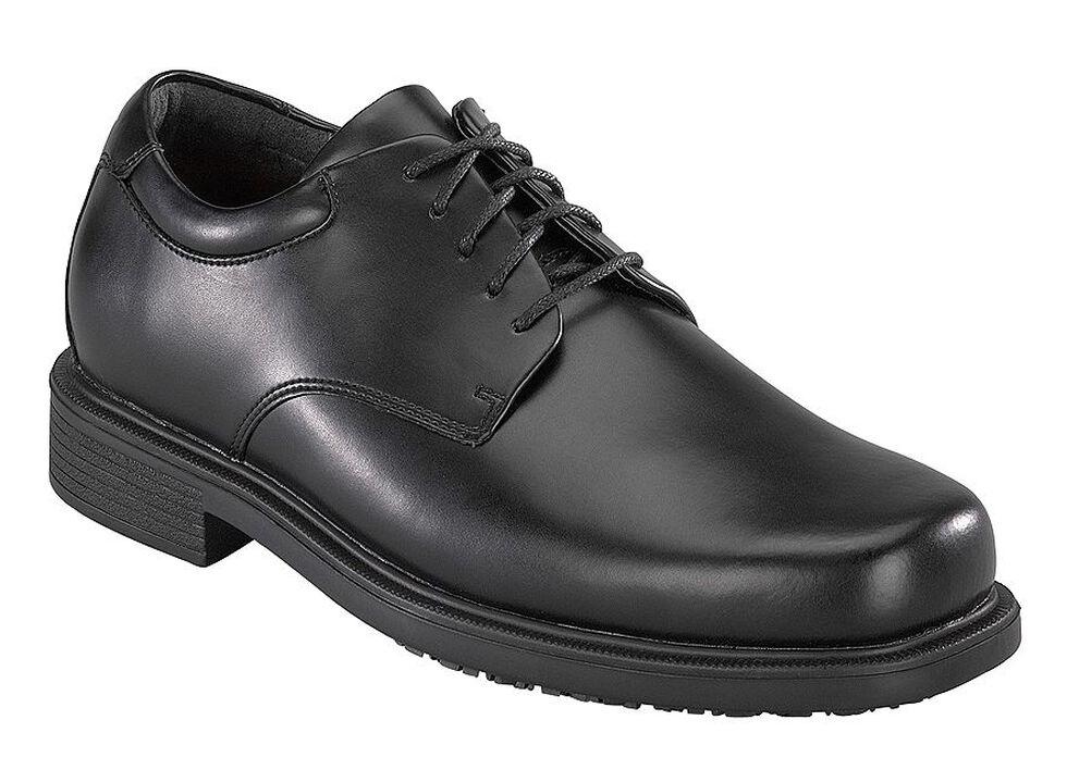 Rockport Works Men's Work Up 5-Eye Dress Work Shoes - Soft Toe, Black, hi-res