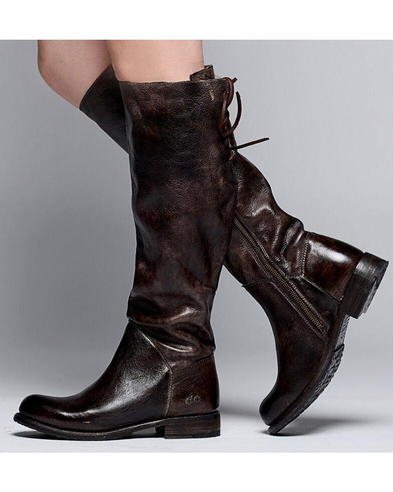 Bed Stu Women's Dark Brown Manchester Tall Boots - Round Toe , Dark Brown, hi-res