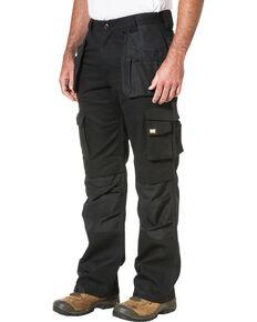 Caterpillar Men's Black Trademark Trouser Work Pants - Straight Leg , Black, hi-res