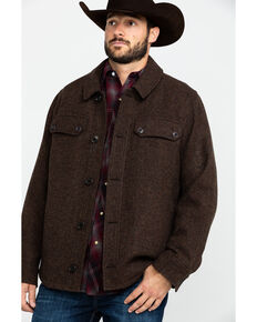 Pendleton Men's Mahogany Capitol Hill Button Front Shirt Jacket , Brown, hi-res