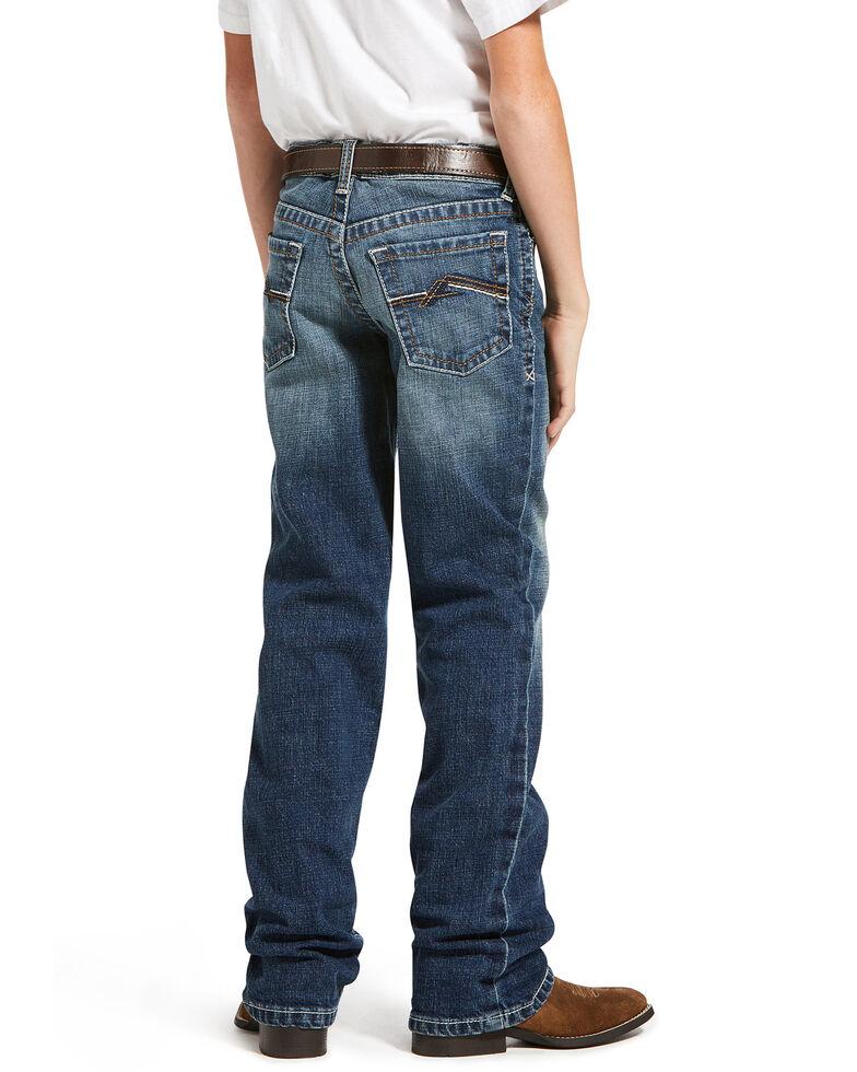 Ariat Boys' B5 Wave Leo Stretch Slim Straight Jeans , Blue, hi-res