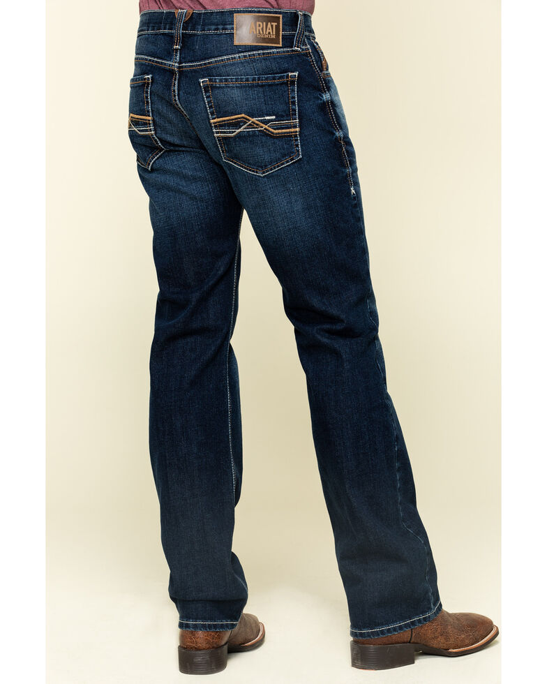 Ariat Men's M7 Rocker Salton Dark Stretch Stackable Slim Straight Jeans , Blue, hi-res